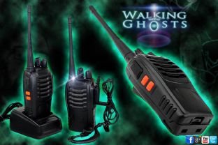 2 Walkie Talkie 2 Way Radio Set Long Distance Ghost Hunt Event Paranormal UK